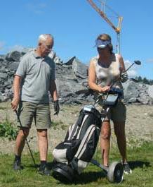 Ikke akkurat idyllisk å golfe på Skeikampen for tiden.
