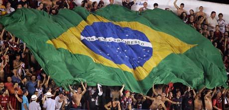 Brasil-jubel publikum flagg Foto Victor Caivano AP
