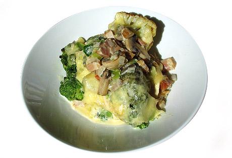 Blomkål og broccoli er servert. Vel bekomme! Foto: Per Kristian Johansen, NRK