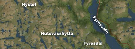 SAVNET: De to guttene forsvant mellom Nystøl og Nutevasshytta i går.