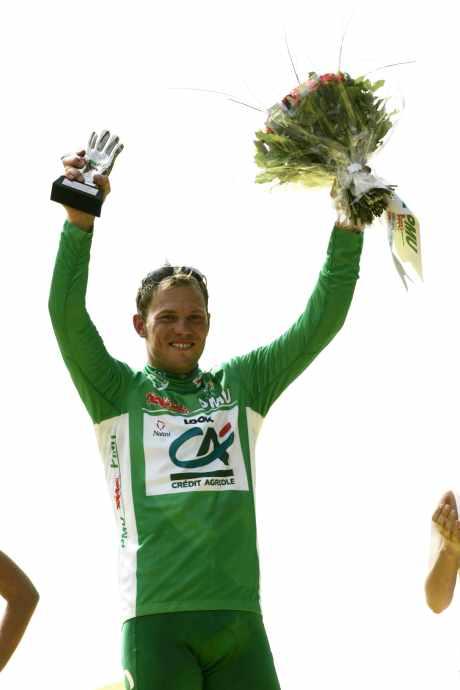 Thor Hushovd i grønn trøye Foto: Heiko Junge / SCANPIX