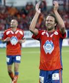 Trond Fredriksen jubler etter seieren over Rosenborg.