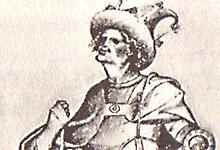Erik av Pommern. Illustrasjon fra 1424.