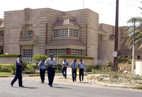 Dette skulle bli den nye  algeriske ambassaden i Irak. (Foto: AFP/Scanpix)
