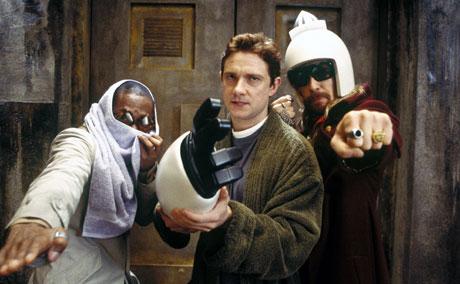 Mos Def, Martin Freeman og Sam Rockwell. Foto: Filmweb