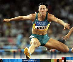 Jana Pittman under OL i fjor der hun endte på 5. plass. (Foto: AP/Scanpix)