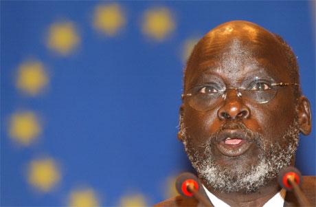 Sudans første visepresident John Garang omkom i helikopterulykken. (Foto: Virginia Mayo/AP/Scanpix)