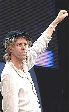 Bob Geldofs honorarer øker med over 30 prosent etter Live 8 den 2. juli 2005. Foto: Scanpix.