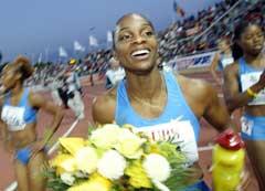 Michelle Perry vant Grand Prix-stevnet i Lausanne i år. (Foto: AFP/Scanpix)