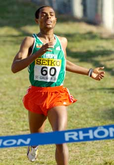 Kenenisa Bekele i Frankrike i mars i år. (Foto: AP / SCANPIX)