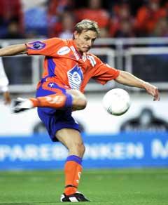 Lasse Olsen utlignet til 1-1. (Foto: Tor Richardsen / SCANPIX)