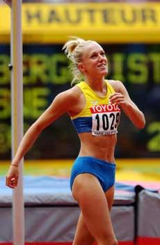 Kajsa Bergqvist ble nummer tre i VM i 2003. (Foto: Cornelius Poppe / SCANPIX)