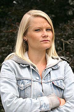 Daglig leder i Norsk Rockforbund, Monica Larsson er lite fornøyd med det framlagte forslaget til statsbudsjett. Foto: Per Ole Hagen, NRK.
