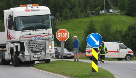 Ulykken skjedde i Motrø-krysset på RV 3 i Tynset.(Foto:Kristian Lium)