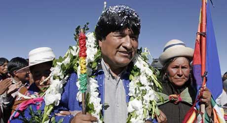 Bolivias presidentkandidat Evo Morales (Scanpix/Reuters)