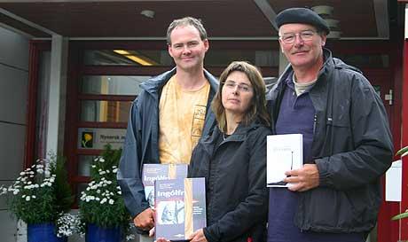 Gaute Losnegård, Berit Gjerland og Rolf Lonsnegård. Foto Jostein Nyfløtt NRK