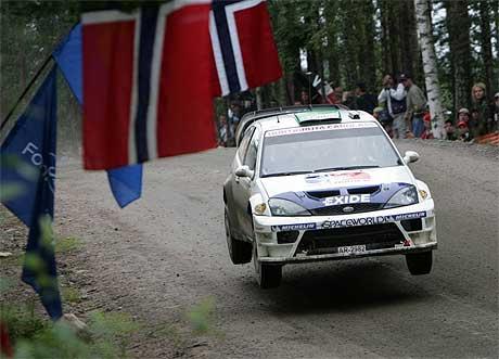 Henning Solberg ble nummer ni i Rally Finland 7. august i år (Foto: Pekka Sakki /SCANPIX)
