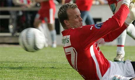 Thomas Myhre har gjort sin siste redning for FFK. ( Foto: Morten Holm / SCANPIX)