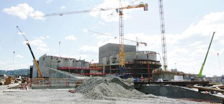 Byggingen har gått svært raskt siden dette bildet ble tatt. Arkivfoto: Scanpix