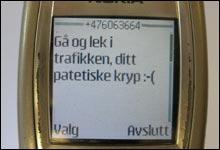 Responsen: En av svar-meldingene på SMS-flørten