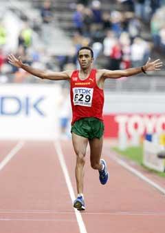 Jaouad Gharib jublet over målstreken. (Foto: AFP/Scanpix)