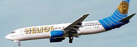 Bildet viser et fly av typen Boeing 737 tilhørende flyselskapet Helios. (Arkivfoto: AFP/Scanpix)