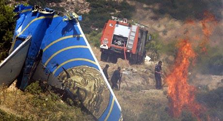 121 menneske omkom i flyulukka utanfor Aten. (Scanpix-foto)