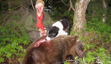 Peder Lundemo ble skadd under bjørnejakt i sommer. Foto: Arne Jostein Devik