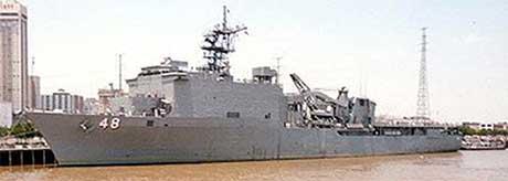 "Det amerikanske marinefartøyet ""USS Ashland"".(Foto:Reuters/Scanpix)"
