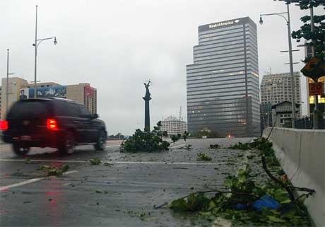 """Katrina"" skapte også store problem i Miami Beach. (Foto: Reuters/Scanpix)"