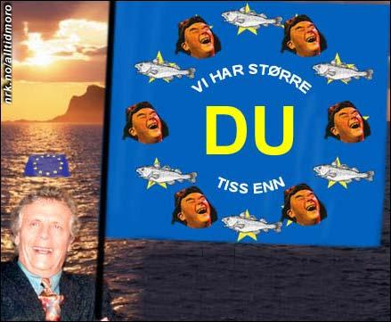 Lars Andreas Larssen lanserer anti-EU-flagg for distriktene. (Innsendt av Trym Anonsen)