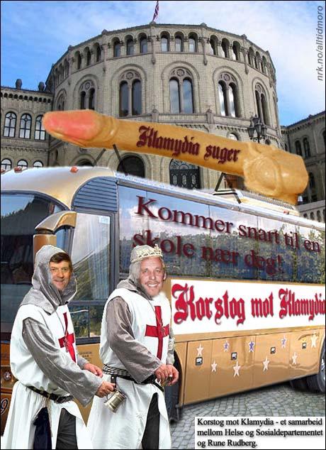 Ansgar Gabrielsen og Rune Rudberg i Korstog mot Klamydia.