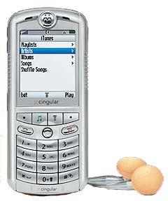 Slik ser den nye Motorolatelefonen med innebygget iTunes ut. Foto: Apple.