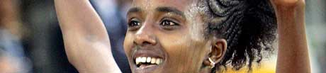 Tirunesh Dibaba fra Etiopia. (Foto: APF/ SCANPIX)