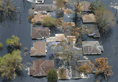 Louisiana ble hardt rammet av orkanens Katrinas herjinger. Nå kan USA bli rammet av en ny orkan. (Reuters/Allen Fredrickson)