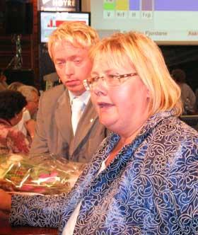 Erna Solberg er partileiar for Høgre. (NRK-foto)