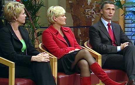 DEN GANG DA: Valgnatta var det lutter glede hos de rødgrønne partiene. I dag starter alvoret, når de skal gi folket det de venter på. (Foto: NRK)