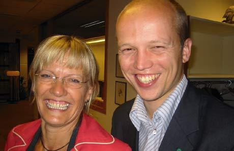 Karin Andersen berget sitt mandat til tross for dårlig velgeroppslutning. Trygve Magnus Slagsvold Vedum (Sp)gleder seg til å begynne sitt arbeid som stortingsrepresentant.