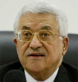 Abbas under sin tv-sendte tale i dag. (Foto: Scanpix / AP)