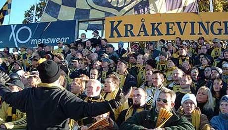 Kanskje kan MFKs supportere juble for et direkte opprykk søndag. Foto: www.kraakevingen.com