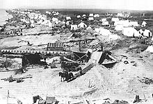 Gullgraving i USA. Bildet er utlånt av Tromsø Museum