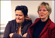 Synnøve Svabø og Kari Kleven. (Foto: NRK)