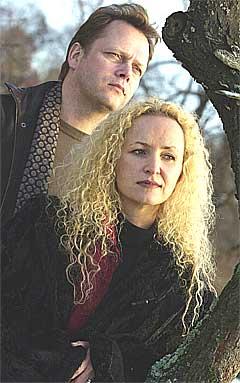 Fionnuala Sherry og Rolf Løvland i Secret Garden. Foto: Knut Fjeldstad, Scanpix.