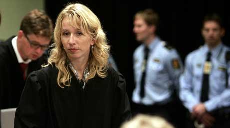 Astri Aas-Hansen i NOKAS-retten (foto: Scanpix)