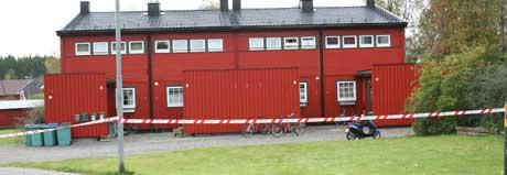 Skutt i Askim Korsegården Foto: Lars Petter Brynildsen, NRK