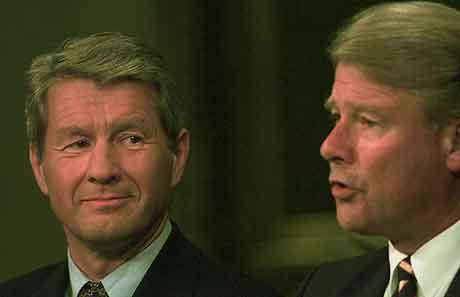 Bilde av den kommende president og visepresident for noen år siden. Foto: Aleksander Nordahl, Scanpix