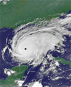«Rita» ventes å bli en av de sterkeste orkanene som noen gang har truffet USA. Foto: Scanpix.