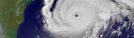 Orkanen Rita er på vei over Texas. Foto:Scanpix/AP/NOAA