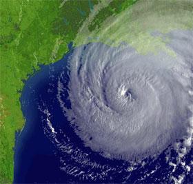 Orkanen Rita er på vei mot land. (National Oceanic and Atmospheric Administration/Getty/AFP/Scanpix)