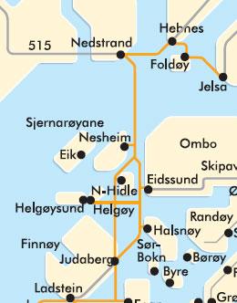 Ferjekart fra Stavangerskes nettsider.